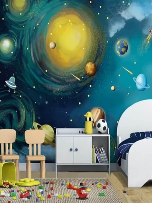 Projetando quarto de criança com tema espacial